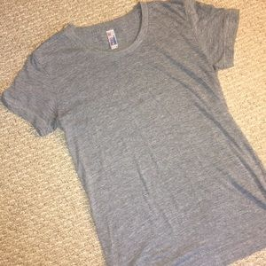 American Apparel Gray Track T Shirt Size Small